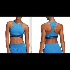 adidas by Stella McCartney HIIT Sport Bra Blue NWT